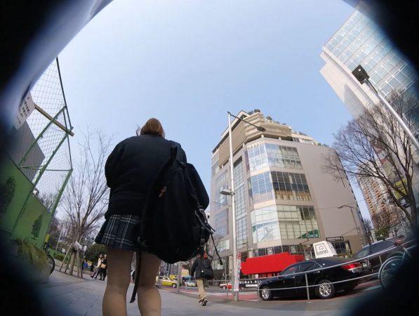 【HD顔出しJK 003】道聞きフロント撮り!前から後ろから…執拗撮り07 - コピー