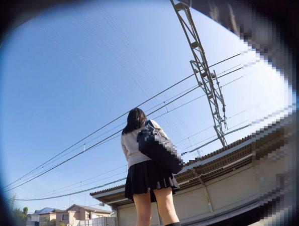 【HD顔出しJK015】駅ホーム,電車内JKのピンクP。08 - コピー