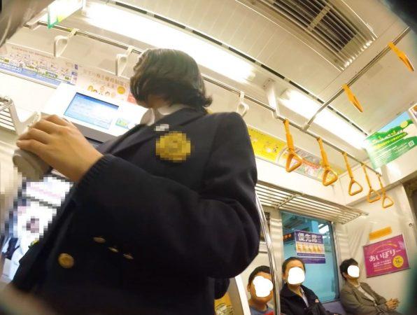 Inked【HD顔出しJK015】駅ホーム,電車内JKのピンクP。01_LI - コピー
