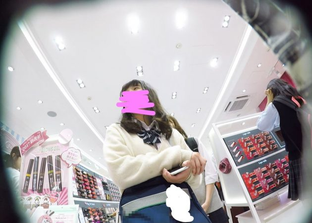 【HD顔出しJK017】笑顔がカワイイ吉木り○!?声かけ逆さで白P覗き。01 - コピー