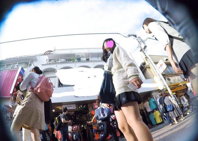 【HD顔出しJK017】笑顔がカワイイ吉木り○!?声かけ逆さで白P覗き。02 - コピー
