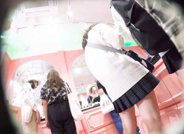 【HD顔出しJK017】笑顔がカワイイ吉木り○!?声かけ逆さで白P覗き。14 - コピー