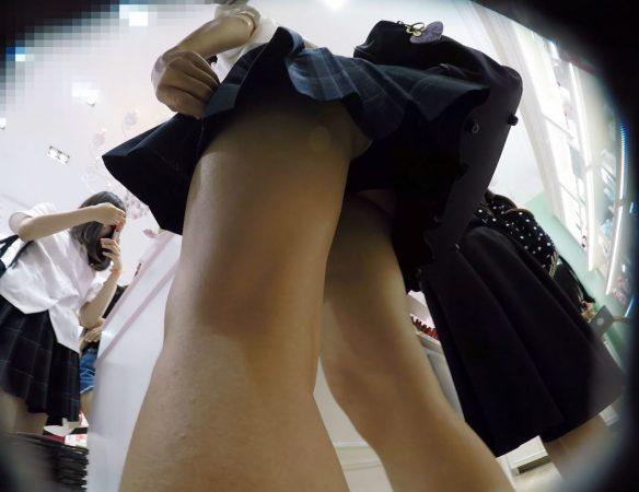 【顔出しJK9】こっちをチラ見してくる化粧品大好き娘。恥ずかしい汚パンツ。【声かけ】3 - コピー