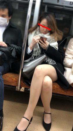 足組替えシリーズ5 短いスカートスーツ美人OL1