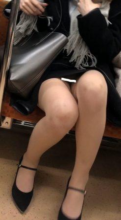足組替えシリーズ5 短いスカートスーツ美人OL7