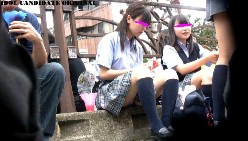 可愛い優等生J○の祭りでのお座り6