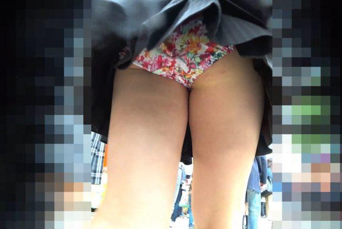 元A●B大島優●風JKの花柄トロピカルP!7