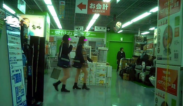 【高画質】制服白パン逆さ撮りNo59-11