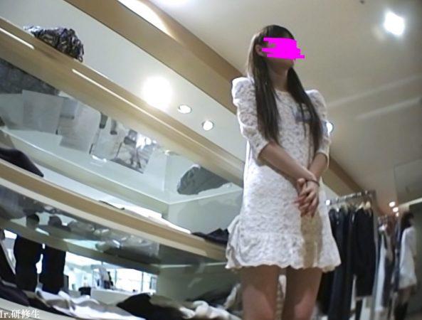 PcolleGcolleレビューMr研修生79 美人モデル店員さん 薄ピンクTバック1