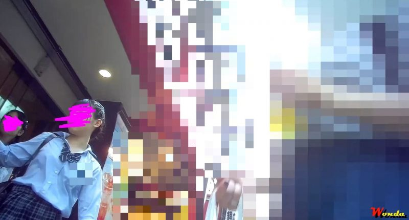 PcolleGcolleレビューワンダー【純白JK3連発】美少女JKを粘着追い撮り9