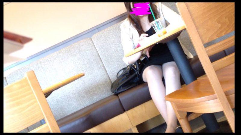 PcolleGcolleレビューOL_tokyoカフェで休憩中OLさんのパンチラ2
