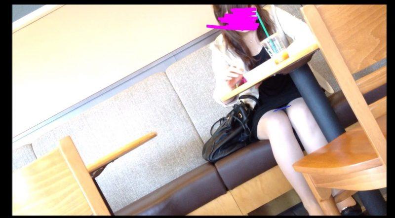 PcolleGcolleレビューOL_tokyoカフェで休憩中OLさんのパンチラ3