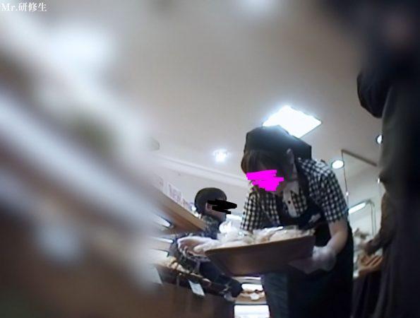 PcolleGcolleレビューMr研修生86 パン屋の店員さん02 白パンツ1