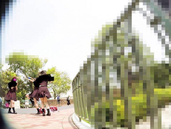 PcolleGcolleみみっく【顔出しJK26】[夢の国11]スタイル抜群、激カワJKに「写真撮りましょうか?」食い込んだピンクPのクシュ感、がっつりフロント1