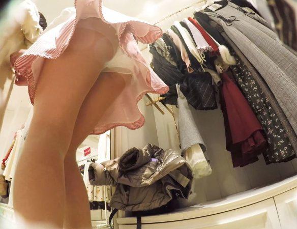 PcolleGcolleレビューみみっく【ショップ店員5】甘い雰囲気のお茶目店員さん、ベールに包まれたスカートの中。【声かけ】10