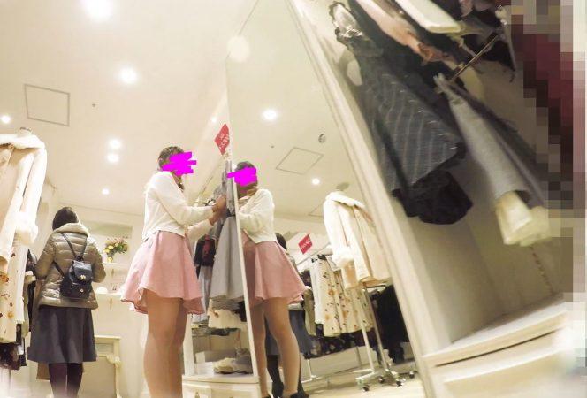 PcolleGcolleレビューみみっく【ショップ店員5】甘い雰囲気のお茶目店員さん、ベールに包まれたスカートの中。【声かけ】2