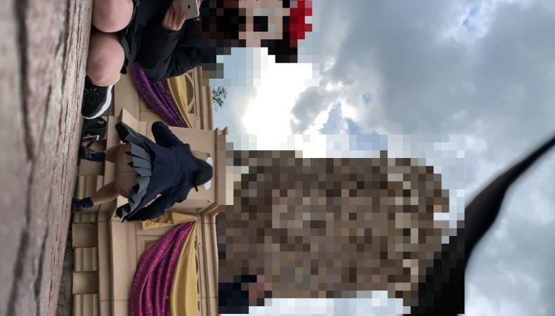 PcolleレビューGcolleたぴおか#1 夢の国@あざと可愛い、アイドル系JKのお城前座りスト白P。5