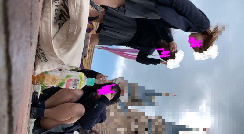 PcolleレビューGcolleたぴおか#1 夢の国@あざと可愛い、アイドル系JKのお城前座りスト白P。13