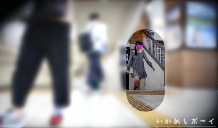 PcolleレビューGcolleいかめしボーイいかめし第一話 JK私服!めっかわ女子の水玉Pとハミ○を鮮明撮り!2