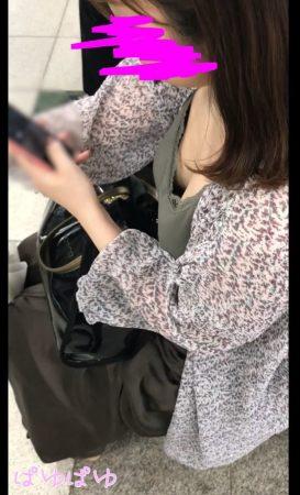 PcolleレビューGcolleぱゆぱゆ[胸チラ]篠●愛似で童顔巨乳のノーブラ乳首[顔有]3