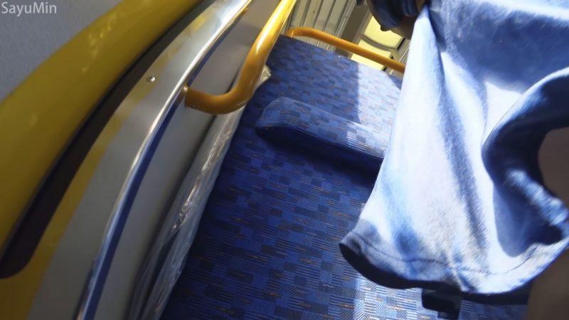 PcolleレビューGcolleSayuMinS04 白パンツ接写 帽子3人組の電車旅-7