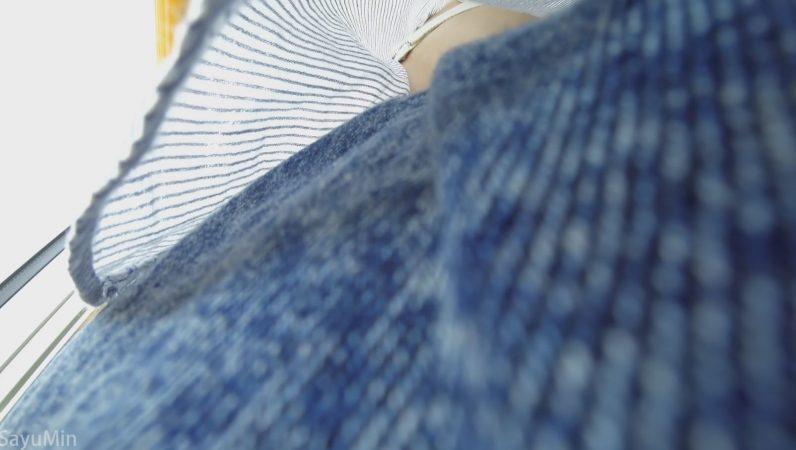 PcolleレビューGcolleSayuMinS05 普通のパンツがくい込んじゃったお尻 帽子3人組の電車旅16
