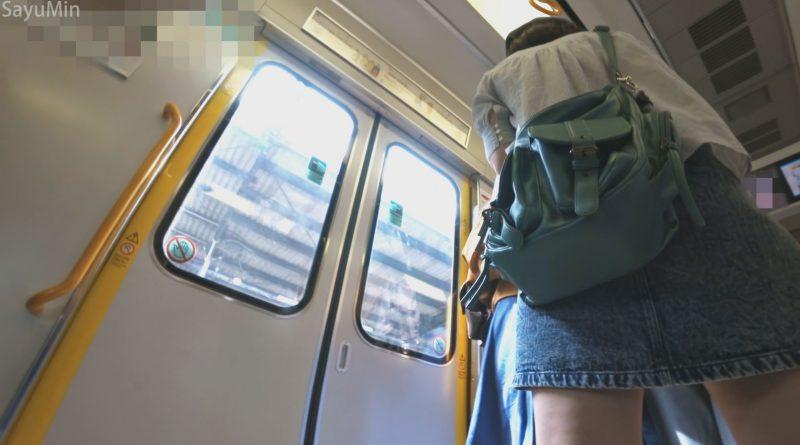 PcolleレビューGcolleSayuMinS05 普通のパンツがくい込んじゃったお尻 帽子3人組の電車旅8