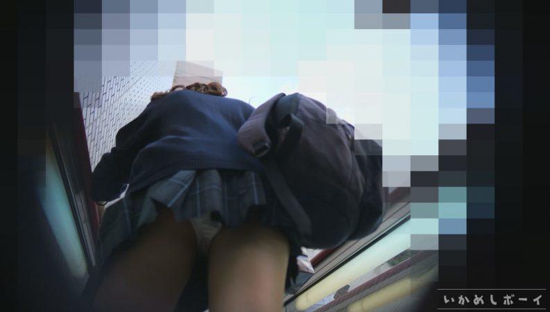PcolleレビューGcolleいかめしボーイいかめし第八話 顔出し制服JK!美形美尻ギャル!激ミニスカートから大興奮の純白サテン地パンティー!!16