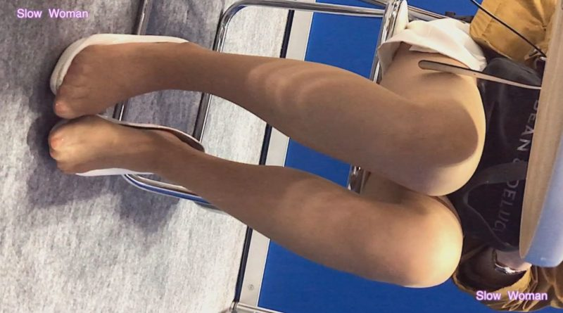 PcolleレビューGcolleSlow Woman【Pcolle限定再販】Legフェチ6コンパニオン【顔出】ヒール脱ぎ捨てストッキング丸出し!美脚揃い^ ^12
