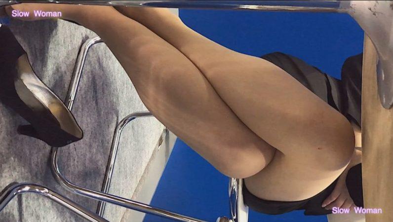 PcolleレビューGcolleSlow Woman【Pcolle限定再販】Legフェチ6コンパニオン【顔出】ヒール脱ぎ捨てストッキング丸出し!美脚揃い^ ^10