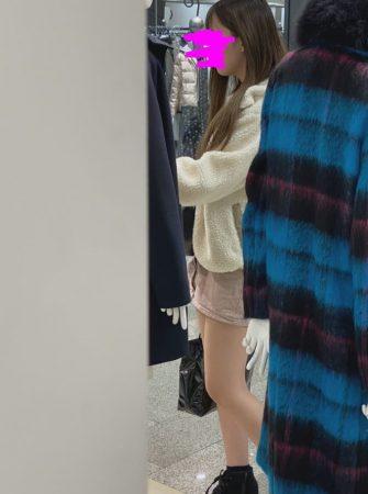 PcolleレビューGcolleやもりお【店内尾行】推定身長170㎝モデル級美脚、超絶目が大きい美少女の食い込みPをストーキング撮しました0-1