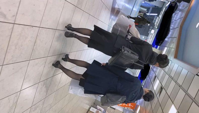 PcolleレビューGcolleパンチラSlow Woman魅惑のCAさんSP1☆帰宅中のPをじっくり観察!大胆なTバックに悶絶^ ^1