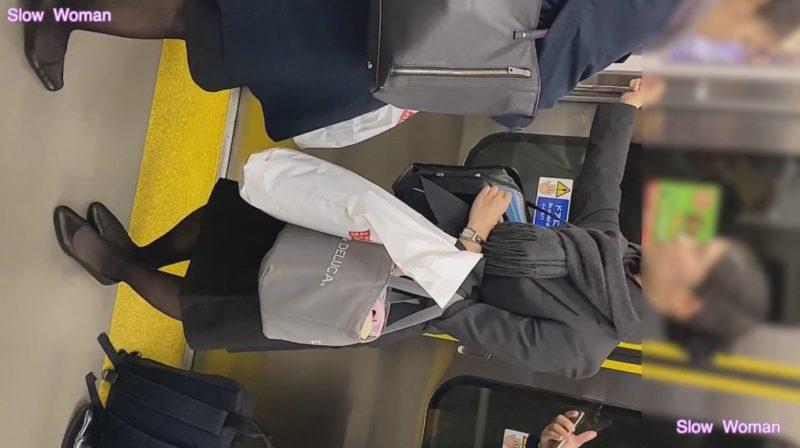 PcolleレビューGcolleパンチラSlow Woman魅惑のCAさんSP1☆帰宅中のPをじっくり観察!大胆なTバックに悶絶^ ^4