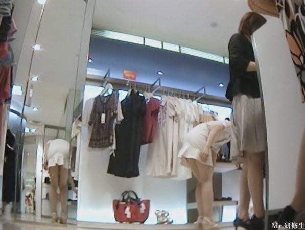PcolleGcolleパンチラMr研修生126 超いい女店員さんのスカートの中を覗く動画3