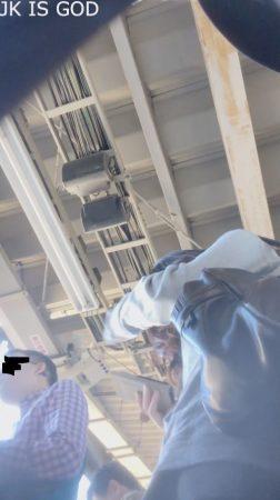 PcolleレビューGcolleパンチラjk is god【4K】宇〇アナ似⁉駅で待っている様子を下からスタイル抜群、食い込みがスゴい子-4