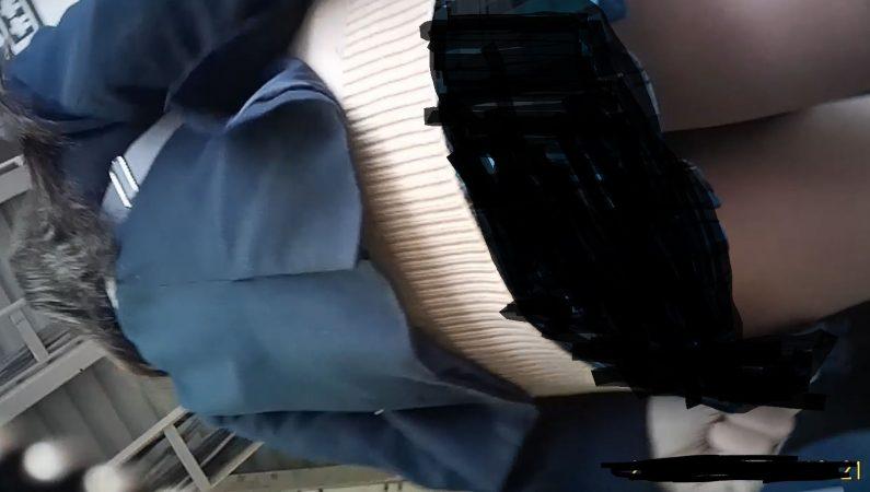 PcolleレビューGcolleパンチラItalianroast【制服JK】生パンツ3日間粘着!水色サテン黒生サテン白サテンのローテ把握撮り!-11