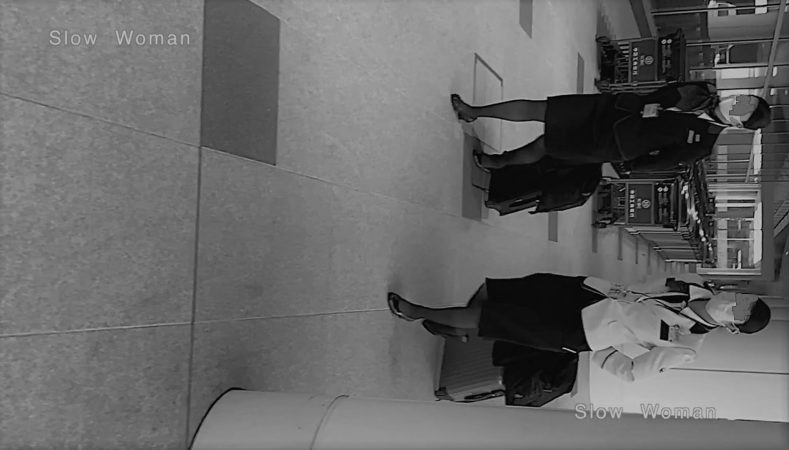 PcolleレビューGcolleパンチラSlow Woman【超絶品】魅惑のCAさんSP15☆艶めかしいJ▲L肉尻!劇エロTバックにナプキンで悶絶^ ^-1