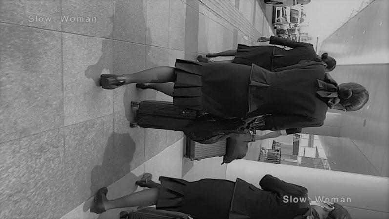 PcolleレビューGcolleパンチラSlow Woman【超絶品】魅惑のCAさんSP15☆艶めかしいJ▲L肉尻!劇エロTバックにナプキンで悶絶^ ^-4