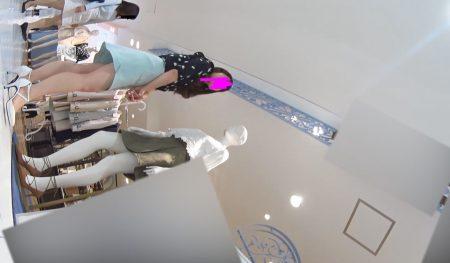 Pcolleレビューgcolleパンチラパンチラえんじぇる新フルHD高画質パンチラ逆さ撮り177 世界に光をもたらすイエローサテンパンティー店員さん!-7