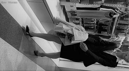 PcolleレビューGcolleパンチラSlow WomanリクルートスーツSP37☆モデル級!スレンダーリクスちゃん粘着の末パンチラGET^ ^-2