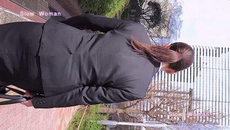PcolleレビューGcolleパンチラSlow Woman【リメイク】リクルート40☆欲情のデカ尻ポニーテール!常に浮き出るPラインに大興奮^ ^-5