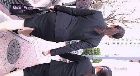 PcolleレビューGcolleパンチラSlow Woman【リメイク】リクルート40☆欲情のデカ尻ポニーテール!常に浮き出るPラインに大興奮^ ^-1