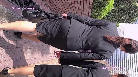 PcolleレビューGcolleパンチラSlow Woman【リメイク】リクルート40☆欲情のデカ尻ポニーテール!常に浮き出るPラインに大興奮^ ^-3