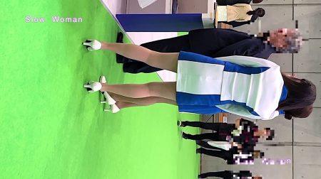 PcolleレビューgcolleパンチラSlow Woman【顔出】コンパニオン40☆美脚揃いの青白コスチューム!フェチシーンに大興奮^ ^-2