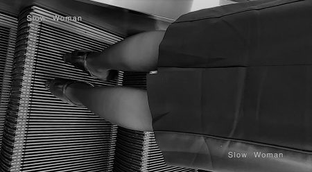 PcolleレビューGcolleパンチラSlow Woman【絶品】魅惑のCAさんSP21☆新制服パンチラ!興奮の黒Pと網目に大悶絶^ ^-10