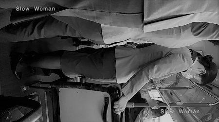 PcolleレビューGcolleパンチラSlow Woman【絶品】魅惑のCAさんSP13☆ライトONで艶めかしい黒スト!3回トライで純白Pゲット^ ^-5