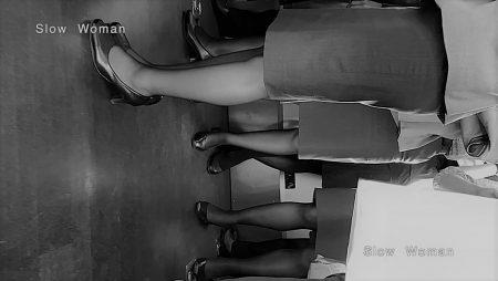 PcolleレビューGcolleパンチラSlow Woman【魅惑のCAさん50☆佇むCAさん集団を接写!艶めかしい黒スト粘着で大興奮^ ^-7