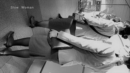 PcolleレビューGcolleパンチラSlow Woman【魅惑のCAさん50☆佇むCAさん集団を接写!艶めかしい黒スト粘着で大興奮^ ^-1