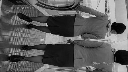 PcolleレビューGcolleパンチラSlow Woman【超絶品】魅惑のCAさんSP19☆エスカでの欲情ポーズに唖然!純白Pで大悶絶^ ^-14