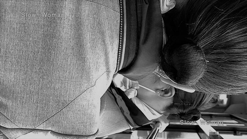 PcolleレビューGcolleパンチラSlow Woman魅惑のCAさん51☆ボカシ無し顔マスク姿CAさん!再びCAパラダイス^ ^-6